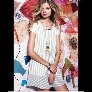 Anthropologie puella Striped Swing Tunic dress